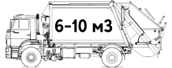 Мусоровозы 6-10 м3