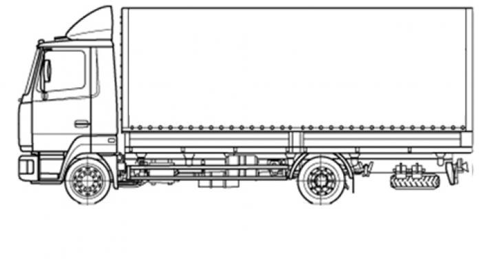 Бортовая машина МАЗ 4371V2-528-000