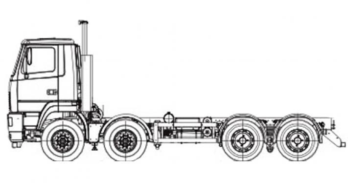Шасси МАЗ 6516V8-555-001